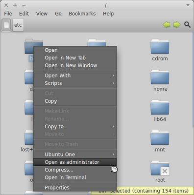 Установка nautilus-gksu (дополнение для открытия файлов от суперпользователя) в Xubuntu